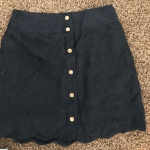 Brand new Fux Suede Button skirt